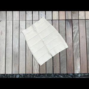 BCBG MAXAZRIA High Waist Bandage Skirt in Khaki